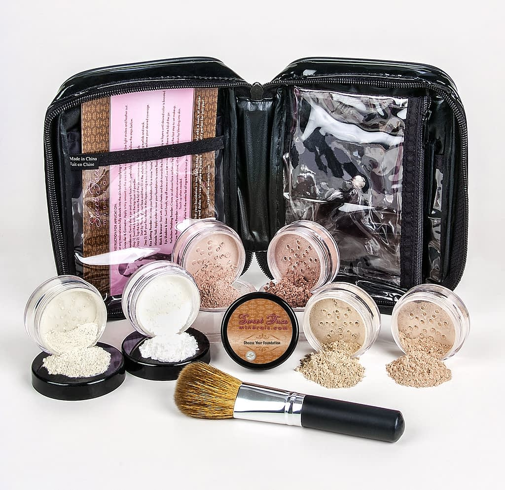 Bare Skin XXL Powder and Foundation Mineral Makeup Set With Brush and Case