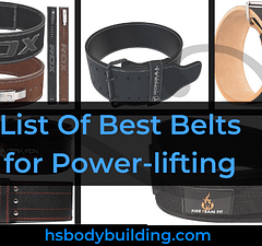 List Of Best Belts forPower-lifting